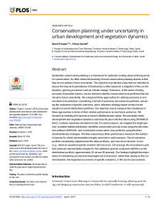 Conservation planning under uncertainty in urban ... - PLOS