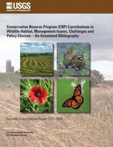 Conservation Reserve Program Contributions to