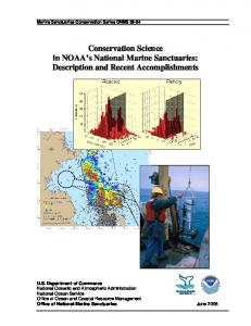 Conservation Science in NOAA's National Marine Sanctuaries