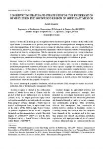 conservation status and strategies for the ... - LANKESTERIANA