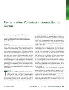 Conservation Volunteers' Connection to Nature - Semantic Scholar