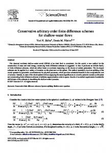Conservative arbitrary order finite difference schemes