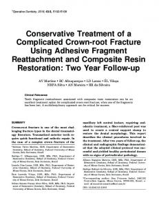 Conservative Treatment of a Complicated Crown ... - Operative Dentistry