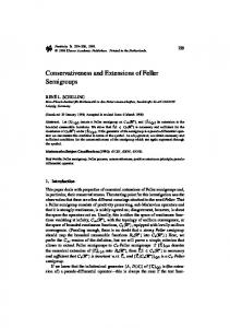 Conservativeness and Extensions of Feller Semigroups - Springer Link