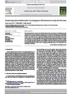 Conserving urban biodiversity? - Wildlife Ecology and Conservation