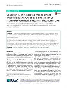 Consistency of Integrated Management of Newborn and Childhood ...