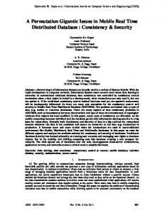 Consistency & Security - Engg Journals Publications