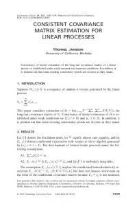 consistent covariance matrix estimation for linear processes