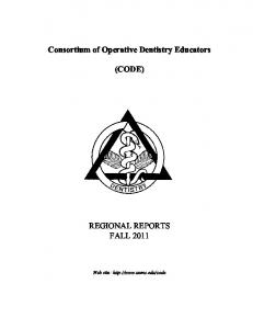 Consortium of Operative Dentistry Educators (CODE ... - UNMC