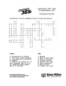 Conspiracy 365: July By Gabrielle Lord Crossword ... - Kane Miller