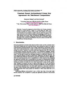 Constant Round Authenticated Group Key ... - Semantic Scholar