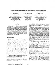 Constant-time neighbor finding in hierarchical tetrahedral meshes ...