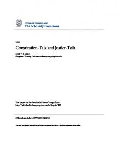 Constitution-Talk and Justice-Talk
