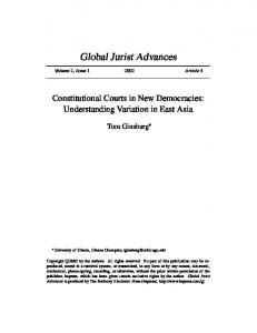 Constitutional Courts in New Democracies: Understanding ... - UChicago