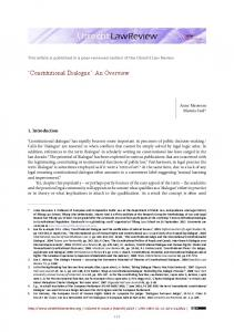 'Constitutional Dialogue': An Overview - Utrecht Law Review