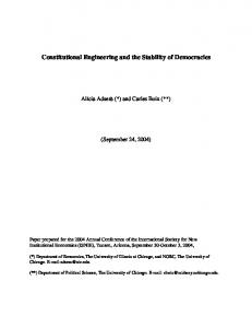 Constitutional Engineering and the Stability of ... - Princeton University
