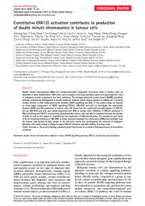 Constitutive ERK1/2 activation contributes to ... - Wiley Online Library