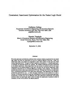 Constrained Assortment Optimization for the Nested Logit Model