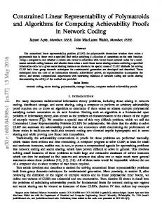 Constrained Linear Representability of Polymatroids and ... - arXiv