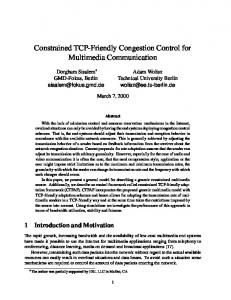Constrained TCP-Friendly Congestion Control for ... - CiteSeerX