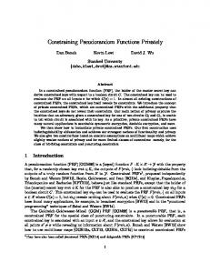 Constraining Pseudorandom Functions Privately - Cryptology ePrint ...