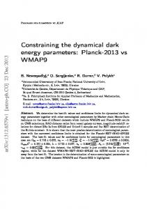 Constraining the dynamical dark energy parameters