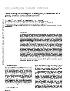 Constraining ultra-compact dwarf galaxy formation with galaxy clusters ...