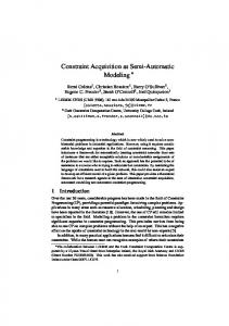 Constraint Acquisition as Semi-Automatic Modeling