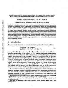 CONSTRAINT QUALIFICATIONS AND OPTIMALITY CONDITIONS ...