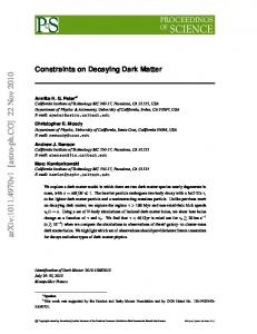 Constraints on Decaying Dark Matter