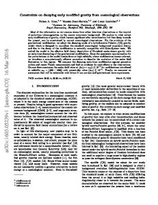 Constraints on decaying early modified gravity from cosmological ...