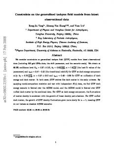 Constraints on the generalized tachyon field models from latest