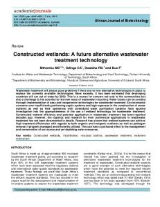 Constructed Wetlands - Academic Journals