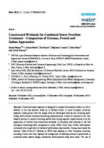 Constructed Wetlands for Combined Sewer ... - Semantic Scholar