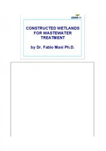 CONSTRUCTED WETLANDS FOR WASTEWATER ...