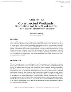 Constructed Wetlands - IGI Global