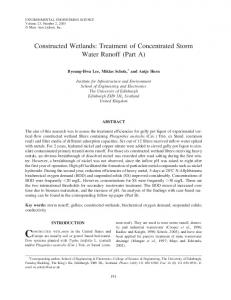 Constructed Wetlands: Treatment of Concentrated Storm Water ... - Core