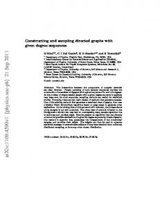 Constructing and sampling directed graphs with given degree ...