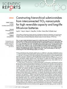 Constructing hierarchical submicrotubes from ... - BioMedSearch