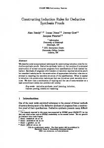 Constructing Induction Rules for Deductive ... - Semantic Scholar