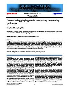 Constructing phylogenetic trees using interacting ... - Bioinformation
