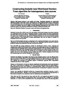 Constructing Scalable local Distributed Decision Trees algorithm for ...
