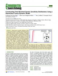 Constructing Time-Resolved Species Sensitivity ... - ACS Publications