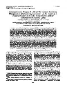 Construction and Analysis of a Library for Random Insertional ...