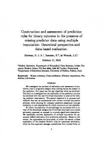 Construction and assessment of prediction rules for