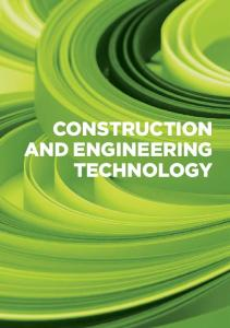 CONSTRUCTION aNd ENGINEERING TECHNOLOGY