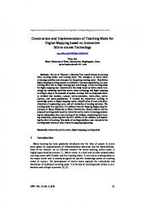 Construction and Implementation of Teaching Mode for Digital