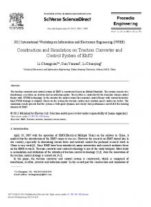 Construction and Simulation on Traction Converter ... - Science Direct