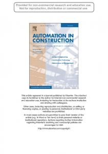 Construction management process reengineering performance ...