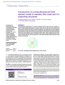 Construction of a three-dimensional finite element